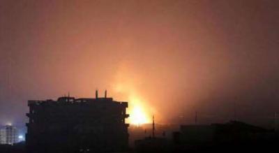 غارات جوية وانفجارات تهز أحياء العاصمة صنعاء( المواقع المستهدفة )