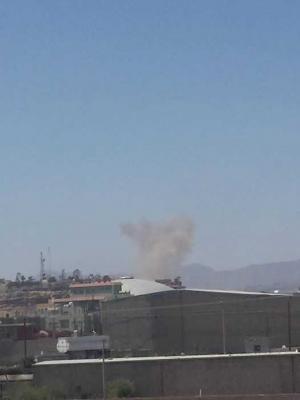 طائرات التحالف تقصف موقع بالعاصمة صنعاء قبل قليل ( المواقع المستهدفة)