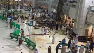 إرتفاع حصيلة ضحايا قتلى وجرحى الحرم المكي (صور)