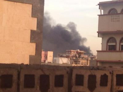 غارات جوية وانفجارات هي الأعنف تهز العاصمة صنعاء وأعمدة الدخان تتصاعد ( المواقع المستهدفة - صور- تحديث مستمر)