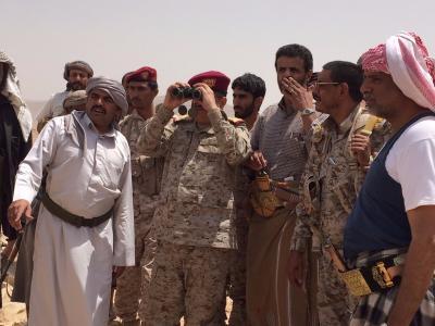 المقدشي يتفقد جبهات القتال غرب محافظة مأرب ( صورة)