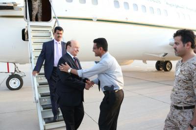 مصادر تكشف عن الوجهة التي  سيتوجه إليها الرئيس هادي بعد زيارته لعدن