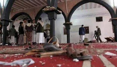 الرواية الرسمية لـ الفجيرالإنتحاري الذي تسبب بمقتل وجرح العشرات اليوم بأحد مساجد العاصمة صنعاء