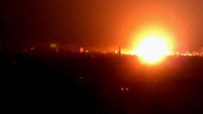 غارات جوية وانفجارات عنيفة تهز العاصمة صنعاء ( المواقع المستهدفة )