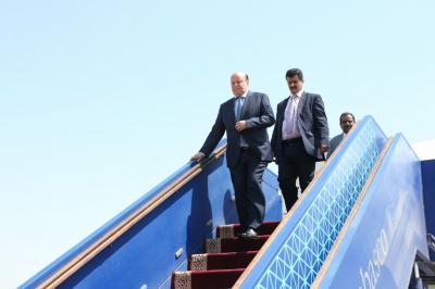 الرئيس هادي يصل السعودية
