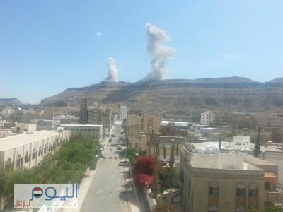 عاجل : غارات جوية عنيفة استهدفت موقع بالعاصمة صنعاء ( صور )