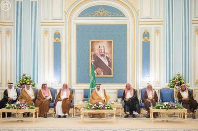 أسماء الأمراء الذين عقد الملك سلمان فيهم إجتماع بقصر اليمامة بالرياض