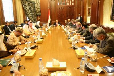 الرئيس هادي يترأس إجتماع لسفراء دول مجموعة الـ 18 ( صورة - تفاصيل)