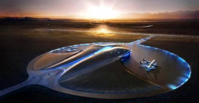 شاهد بالصور.. أول مطار مجهز لإطلاق رحلات سياحية فضائية في العالم
