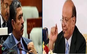 خلافات هادي وبحاح تخرج إلى العلن بعد أن كشفها مستشار الرئيس هادي - تفاصيل