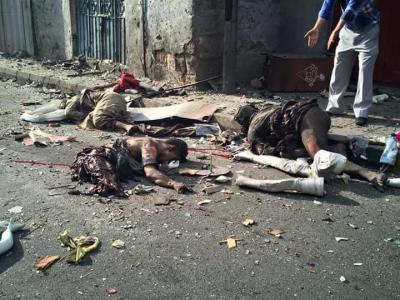 شاهد صور المجزرة التي ارتكبها الحوثيون اليوم في تعز