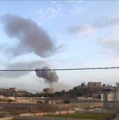 أسماء المواقع التي استهدفها طيران التحالف منذ صباح اليوم جنوب العاصمة صنعاء