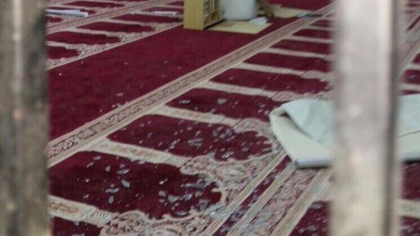 صور ومعلومات أولية عن التفجير الإنتحاري الذي استهدف مسجد بنجران السعودية