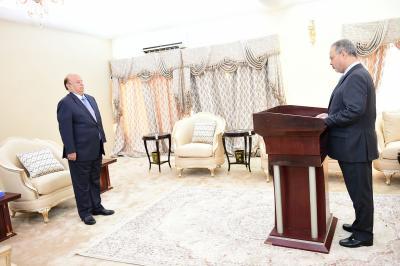 نائب رئيس الوزراء وزير الخارجية الجديد يؤدي اليمين الدستورية أمام الرئيس هادي ( صورة)