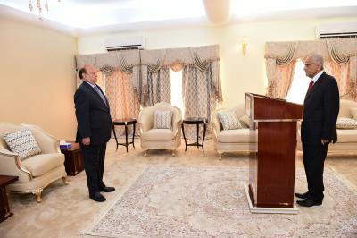 نائب رئيس الوزراء وزير الداخلية  يؤدي اليمين الدستورية أمام الرئيس هادي ( صورة - سيرة ذاتيه)