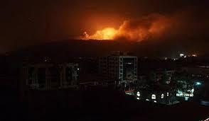 غارات جوية جديدة وانفجار يهز العاصمة صنعاء ( المواقع المستهدفة)