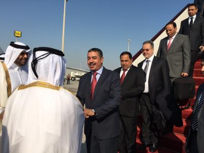 بحاح يغادر الرياض برفقة نائبيه إلى قطر ( صور - أسماء الوفد)
