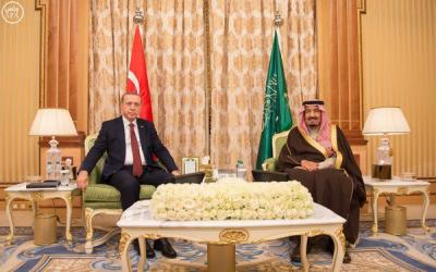 الملك سلمان يستقبل الرئيس التركي أردوغان ( صور)