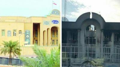 شاهد بالصورة .. الفرق بين السفارتين السعودية والإيرانية في كلا البلدين