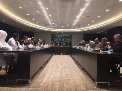 ولد الشيخ يلتقي ممثلو القوى السياسية والإجتماعية اليمنية بالرياض ( صورة)