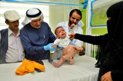 وصول التوأم السيامي اليمني من تعز إلى السعودية ( صورة)