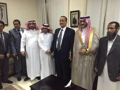 شاهد بالصور ..  وصول السعوديين اللذين أفرج عنهما الحوثيين برفقة السفير وولد الشيخ إلى جيبوتي - تفاصيل