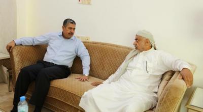 نائب رئيس الجمهورية يطلع على اوضاع محافظة شبوة