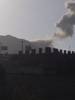 غارات وإنفجارات تهز غرب العاصمة صنعاء ( صور - المواقع المستهدفة )