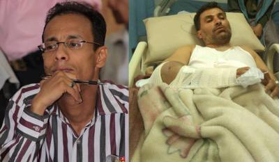 نجاة الصحفي فتحي أبو النصر من محاولة إختطاف وسط العاصمة صنعاء بعد ساعات من تعرض الزميل نائف حسان للضرب من قبل مسلحين
