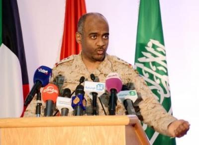 تصريح لناطق التحالف العميد أحمد عسيري يتحدث فيه عن صاروخ توشكا الذي استهدف معسكر بمأرب