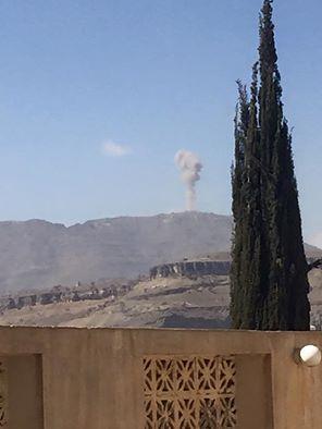 إنفجارات تهز العاصمة صنعاء ( صورة - المواقع المستهدفة)