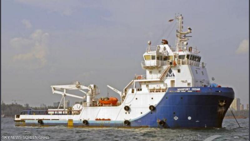 إحتجاز سفينة قادمة من إيران متجهه إلى اليمن  تحمل عتاد عسكري