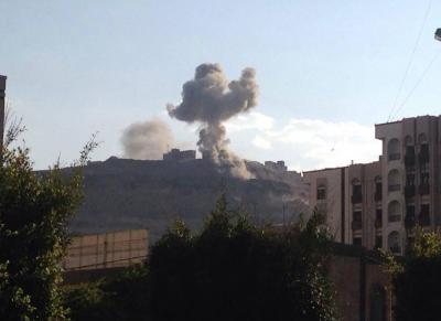 أسماء المواقع التي استهدفها طيران التحالف منذ صباح اليوم في العاصمة صنعاء