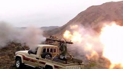 مدفعية المقاومة تدك مواقع الحوثيين في الزاهر والطفة بالبيضاء