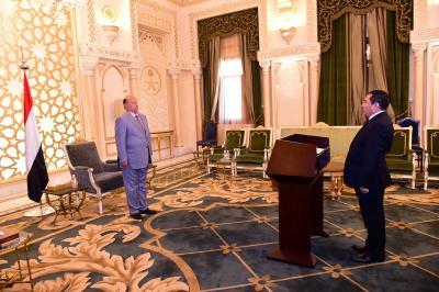 محافظ حجه يؤدي اليمين الدستورية أمام الرئيس هادي ( صوره)