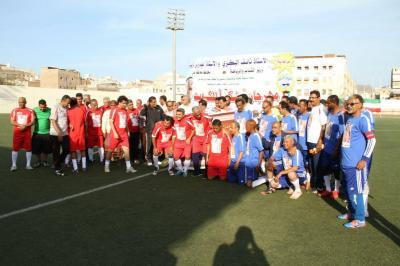عدن : فعالية رياضية يمنية كويتية تجمع قدامى لاعبي كرة القدم