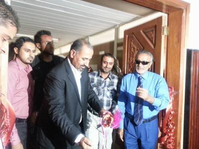 محافظ عدن يفتتح مركزا إعلاميا بمبنى المحافظة