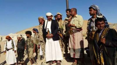 بالصور .. محافظ الجوف يشرف على تدريبات  قوات الامن في معسكر اللبنات