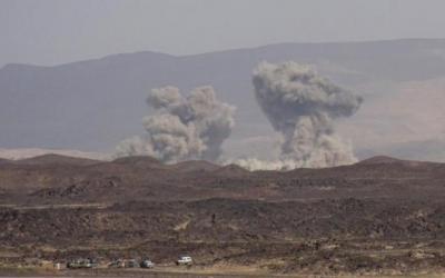 أسماء المواقع التي استهدفها طيران التحالف مساء اليوم شمال صنعاء