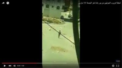 شاهد بالفيديو .. لحظة هروب الحوثيين من منطقة بير باشا بمدينة تعز