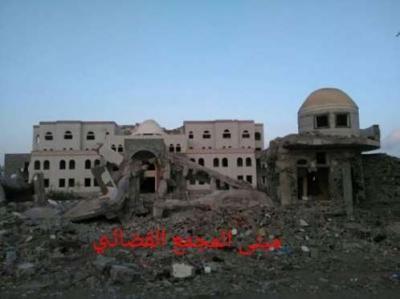مسلحون يفجرون مبنى المجمع القضائي بمدينة الحوطة مركز محافظة لحج ( صورة)