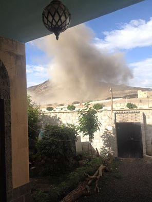 طيران التحالف يعاود قصف العاصمة صنعاء ( صورة)