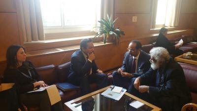 الاصبحي يلتقي سفيرا الولايات المتحدة ومملكة هولندا لدى مجلس حقوق الإنسان بجنيف