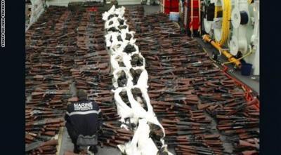 فرنسا تصادر شحنة أسلحة كانت في طريقها إلى اليمن