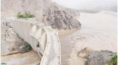 سيول اليمن تقتحم سد نجران