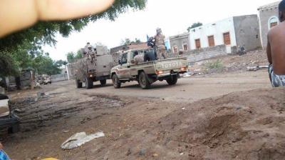 بالصور .. قوات الجيش تسيطر بشكل كامل على الحوطة بلحج ومحيطها وهروب عدداً من المسلحين