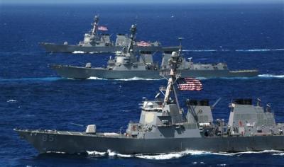 البحرية الأمريكية تضبط شحنة أسلحة كانت في طريقها إلى اليمن
