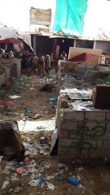 تفاصيل الإنفجار الذي هز أحد الأسواق بمأرب وخلف قتلى وجرحى ( صوره)