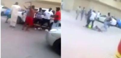 شاهد بالفيديو .. شجار عنيف بين سعوديين ويمنيين في الرياض