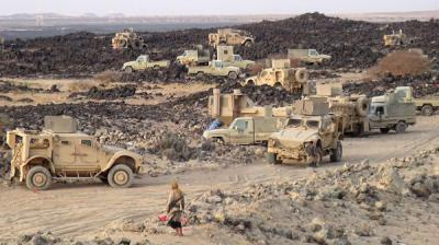 وصول تعزيزات عسكرية كبيرة إلى مأرب قادمة من السعودية